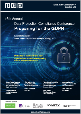 16th Annual Data Protection Compliance brochure