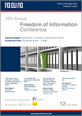 12th Annual Freedom of Information Conference Brochure